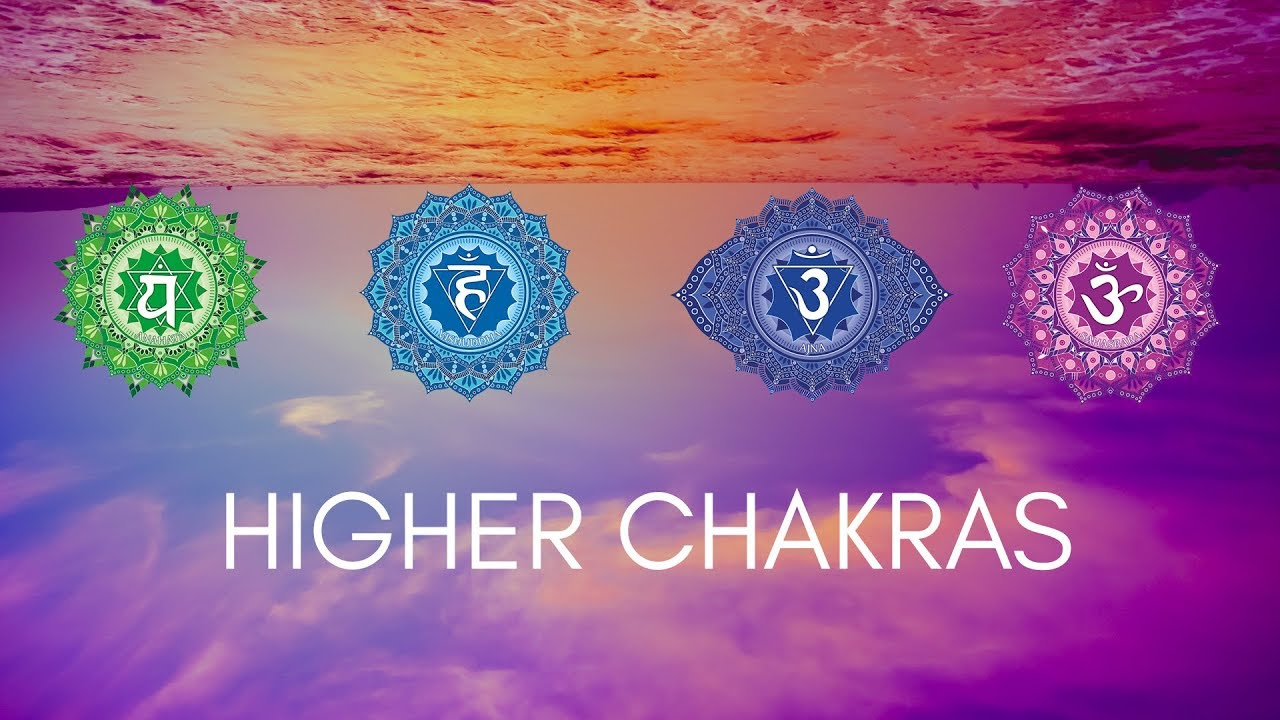 HIGHER CHAKRAS HEALING MEDITATION MUSIC || Heart, Throat, Third Eye, Crown  Chakra Healing Music