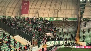 Akhisarspor 2-4 Bursaspor || Bursa deplasman tribünü görüntüleri