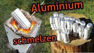 Aluminium Schrott recyclen - Aluminium in Barren gießen | Subtitled