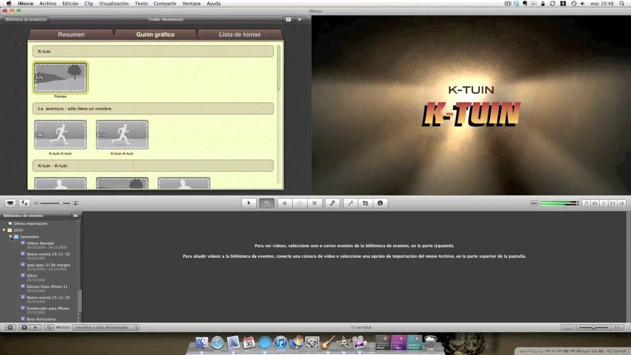 Como crear divertidos trailers para tus vídeos en iMovie\'11 para Mac ...
