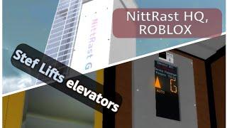 (JAPANESE voice!) Stef Lifts elevators - NittRast HeadQuarters, ROBLOX
