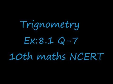 Ex:8.1 Q-7 If cot theta =7/8,evaluate (i) (1+sin theta)(1-sin theta)/(1+cos theta)(1-cos theta)