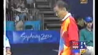 2000 Badminton  -Hendrawan vs Sun Jun 孙俊 pt 1 of 2.