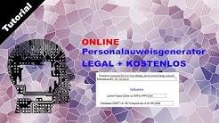 Personalausweisgenerator | Online Personalausweis generieren | Gratis und Legal | GERMAN