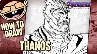 How to Draw THANOS (Avengers: Endgame) | Narrated Easy Step-by-Step Tutorial