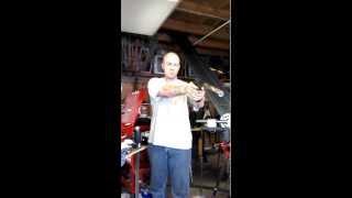 Suppressor baffle test 1 dry