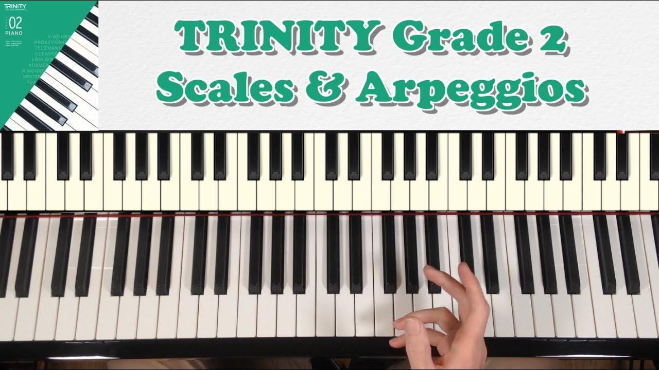TRINITY Grade 2 Piano (2018-2020): Scales & Arpeggios