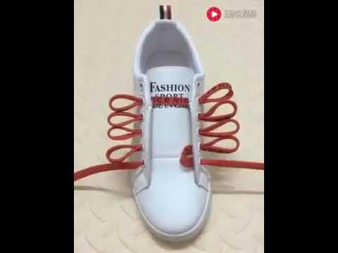 Schuhe leicht binden , Schuhsenkel binden, Sneakers, Schnürrsenkel Varianten