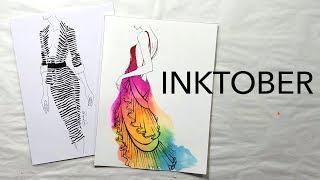 Inktober for Fashion Illustrators