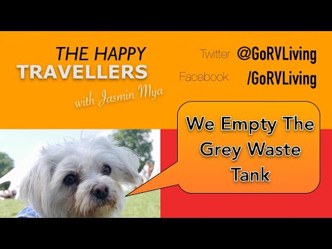 Empty the Grey Waste Tank On A Hymer T678CL - Fulltime Motorhome Life Vlog #214