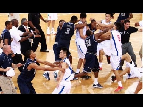 Georgetown brawls with Chinese basketball team