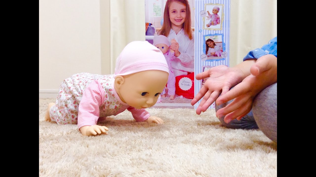 Baby Annabell Learn To Walk Doll Crawling Baby Doll