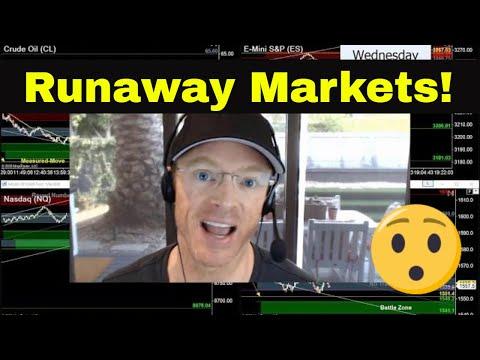 Trading a Runaway Market | Crude Oil, Emini S&P, Nasdaq, Gold
