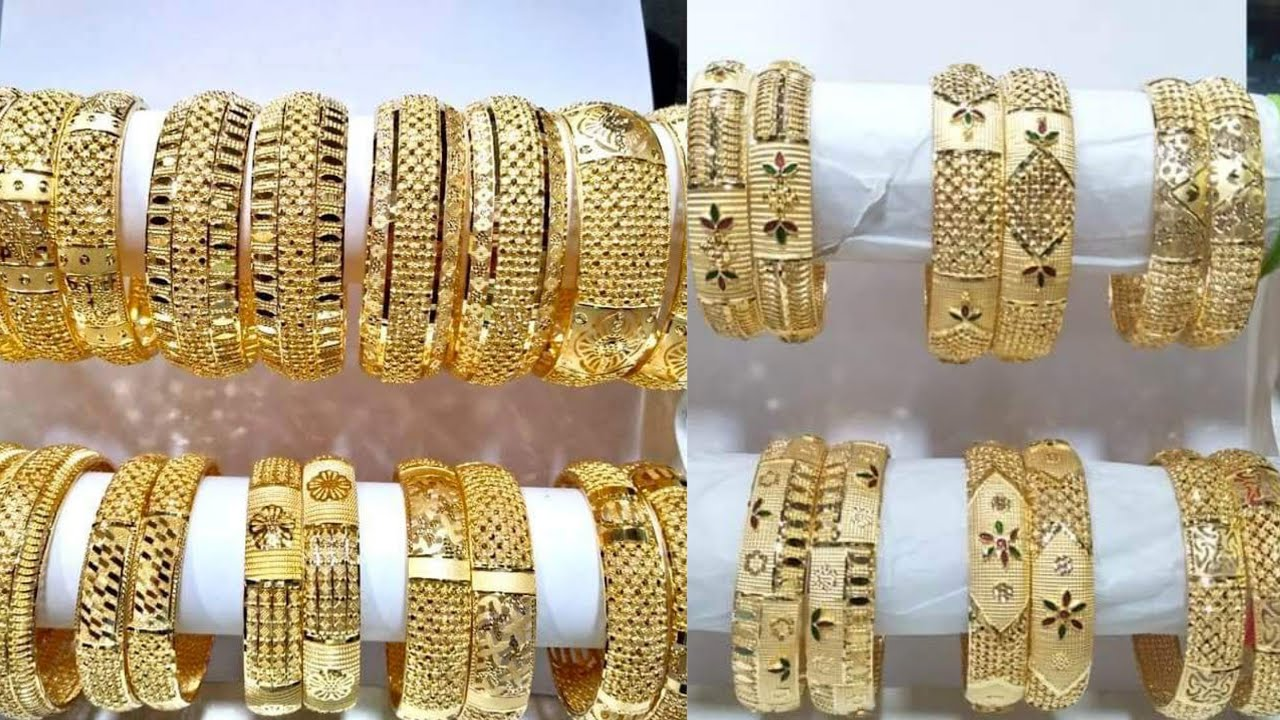 Designer Gold Bangle Designs | Huge Gold Bangles Collection | Jewellery 2020