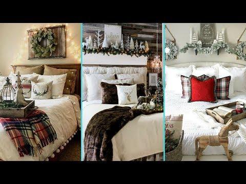 ❤-diy-shabby-chic-style-rustic-christmas-guest-bedroom-decor-ideas-❤- home-decor -flamingo-mango 