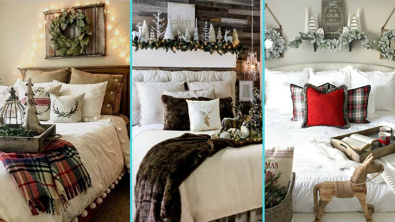 Decorating With Colors Mango: DIY Shabby Chic Style Rustic Christmas Guest Bedroom Decor