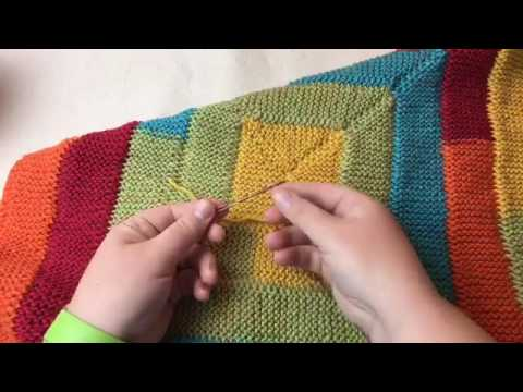 Ten Stitch Blanket Tutorial - Needle Knit - FB REPLAY of LIV