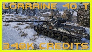 World of Tanks Lorraine 40 t (Sgt_Krollnikow51 skin) 8795 DMG 8 kills 2.225 EXP !!! - Arctic Region