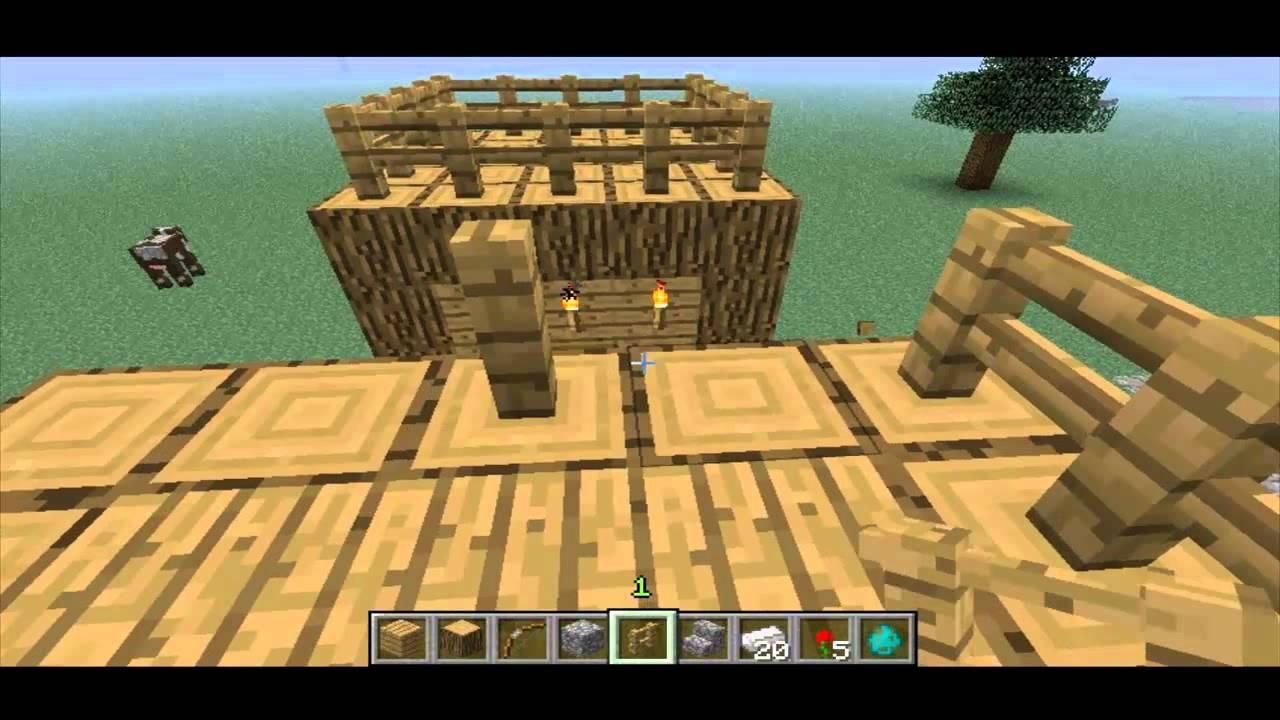 видео майнкрафт постройка деревни