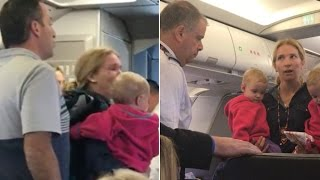 Mom sobs after AA flight attendant