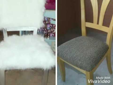 Diy Goodwill Upcycle Fur Chair Youtube