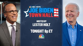 WATCH LIVE: NBC News' Lester Holt hosts town hall with Joe Biden — 10/5/2020