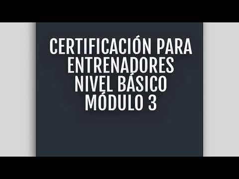 Certificación de Entrenador
