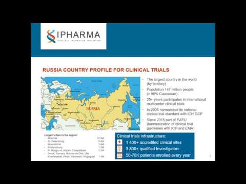 "Webinar ""Opportunities for clinical trials and market access in Russia: changing for good!"""
