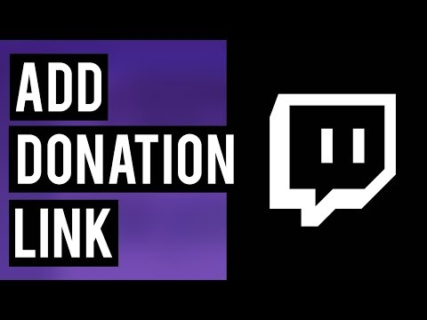 How To Add A Donation Link To Your Twitch Channel