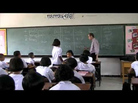 Numbers Lesson at a Thai School - Part 2