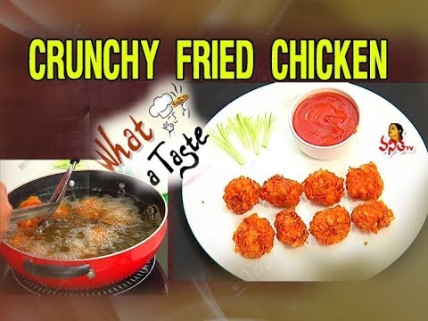 Crunchy Fried Chicken Recipe || What A Taste || Vanitha TV