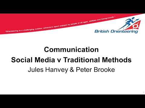 Communication Social Media V Traditional Methods 14th March 2019