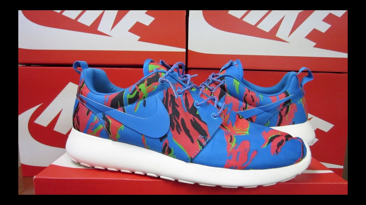 more photos 14ca0 a8ddc Nike Roshe Run GPX Tiger Camo   Unboxing + On Feet