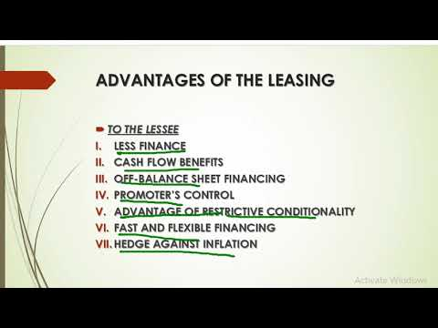 LEASING FINANCING FINANCIAL SERVICES AND MARKET