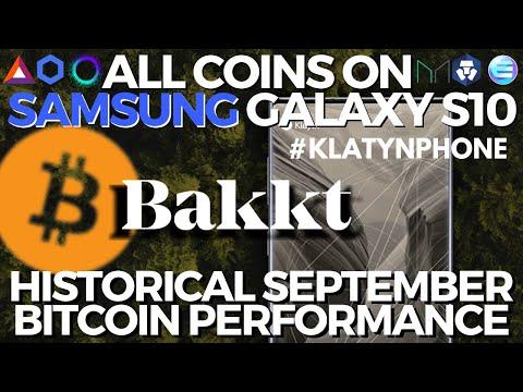 BAKKT Bitcoin Warehouse   Cryptocurrency On Samsung Galaxy S10 Blockchain Phone   $1 BILL BTC Moved