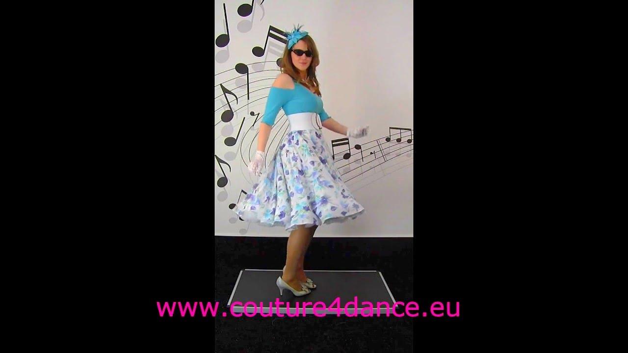 Tellerrock / Circleskirt Sommerbrise+Shirt Julia + Petticoat Sissi