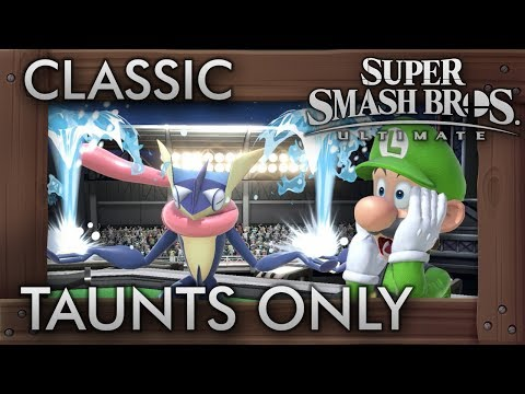 Can You Beat Classic Mode While Only Using Taunts? - Super Smash Bros. Ultimate thumbnail