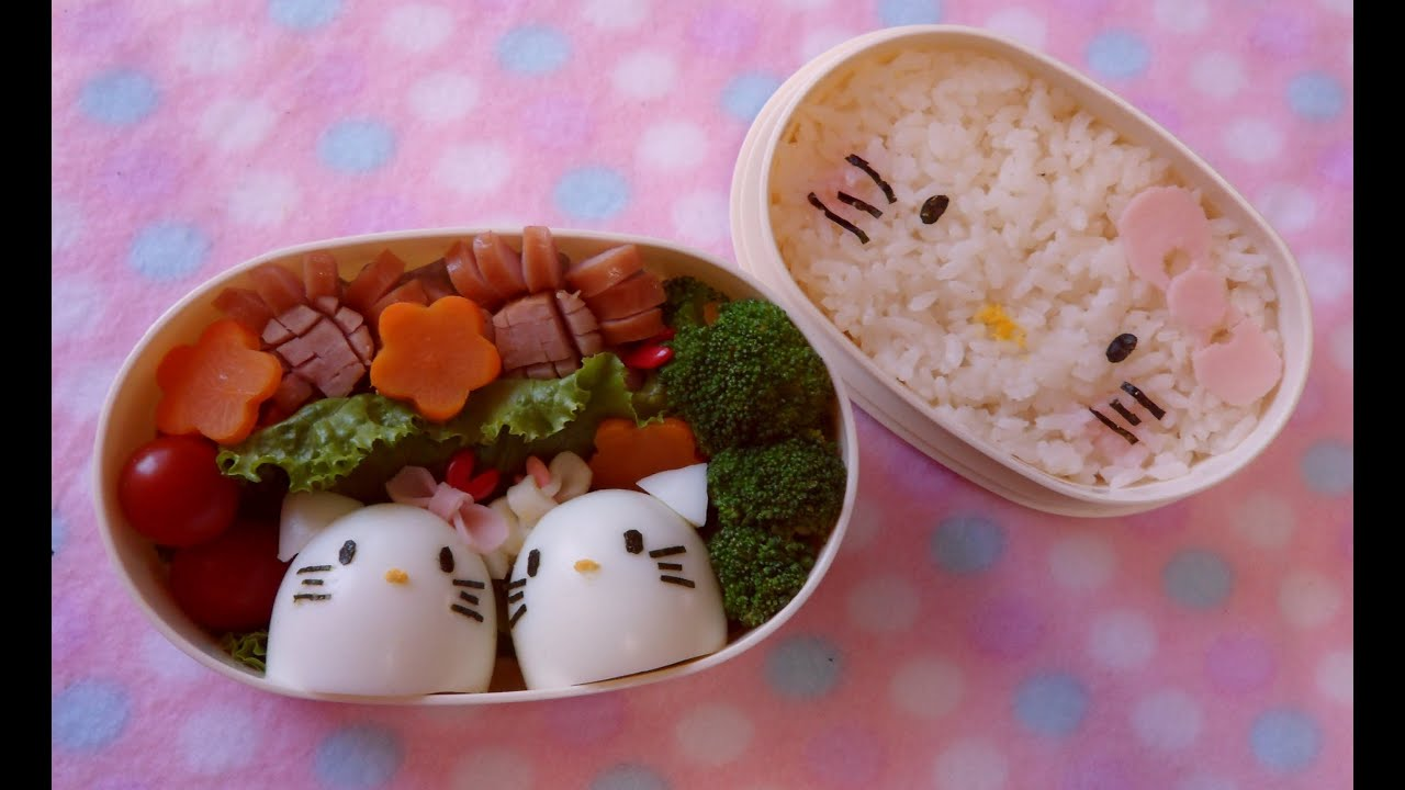 hello kitty bento lunch box tutorial kyaraben youtube. Black Bedroom Furniture Sets. Home Design Ideas