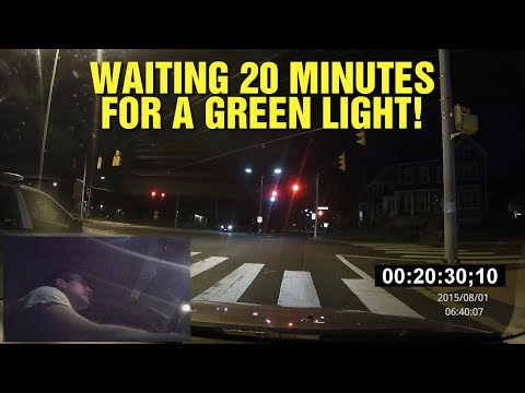 ANGELO WAITS 20 MINUTES AT AN INTERSECTION AT 2:30 AM!