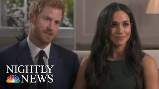 Meghan Markle And Prince Harry Arrive At Windsor Castle For Wedding Rehearsal   NBC Nightly News