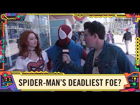 """Fans Answer """"Who is Spider-Man's Deadliest Foe?"""" @ SDCC 2019!"""