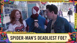 "Fans Answer ""Who is Spider-Man's Deadliest Foe?"" @ SDCC 2019!"