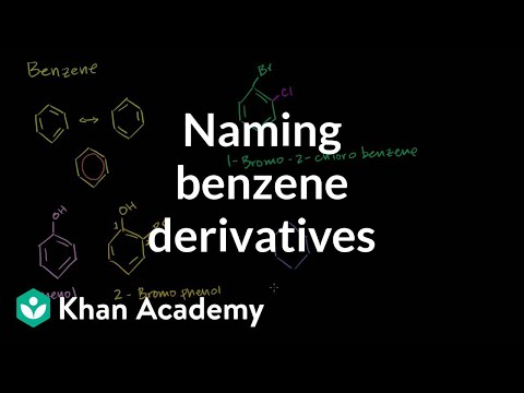 Naming benzene derivatives introduction | Aromatic Compounds | Organic chemistry | Khan Academy