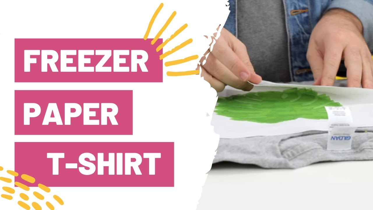 Freezer Paper T-Shirt - How to Make Stencils with Your Cricut