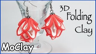 DIY 3D earring folding structure - Polymer clay tutorial