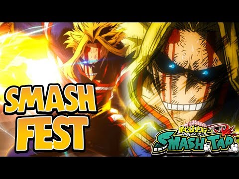GOD TIER LUCK UNITED STATES OF SMASH! NEW SMASH FEST ALL MIGHT SUMMONS! - My Hero Academia Smash Tap