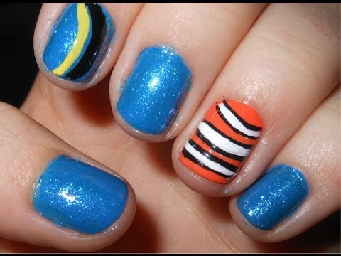 Finding nemo nails short nails youtube finding nemo nails short nails prinsesfo Gallery