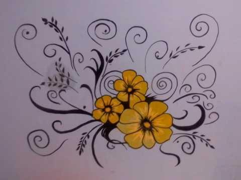 цветов своими стенах рисунки на руками фото