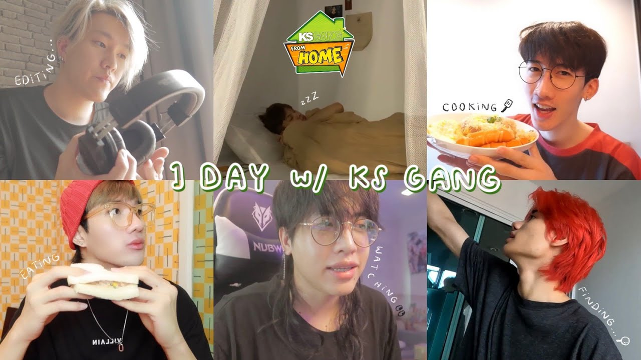 [ KS FROM HOME EP.1 ] - 1 Day with KS GANG