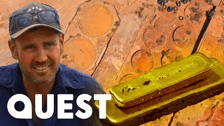 $20k Dirt From Old Gold Processing Plant Makes $180,000! | Aussie Gold Hunters